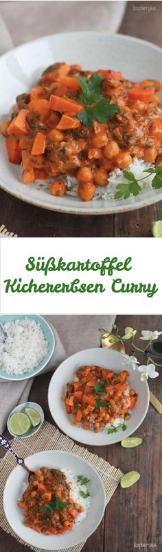 Süßkartoffel-Kichererbsen-Curry
