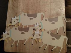 4 country cow cutouts *FREE SHIPPING*