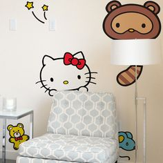 Hello Kitty Wall Decals - gonna just make myself a girl cave already lol!