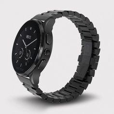 Vector Watch Luna - Siyah Çelik Kasa ve Çelik Kordon Akıllı Kol Saati