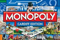 The Cardiff edition of Monopoly, landmarks making the board include the New Theatre, the Millennium Stadium, Roath Park and the new Cardiff City football stadium. My da would LOVE this! Cardiff City Football, Great Britan, Millennium Stadium, Wales Rugby, Monopoly Board, Everton Fc, Football Stadiums, Cymru, Park City