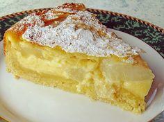 Beste Rezeptesammlung: Birnenkuchen mit Vanilleguss