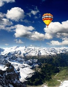 Hot air baloon ride over Luzerne