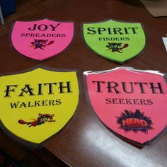See how Kim Orrock and team created Hero Shields using the template and ideas in the Decorating Guide! See Free Resources section, cokesburyvbs.com for FREE template!