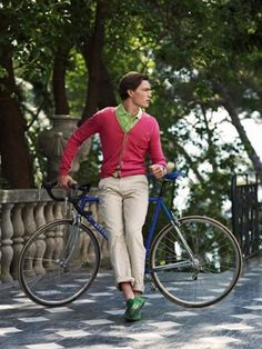 Men's Fashion Style on Bicycles