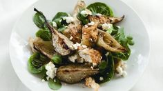 Roasted pears add an appealing sweetness to this salad.