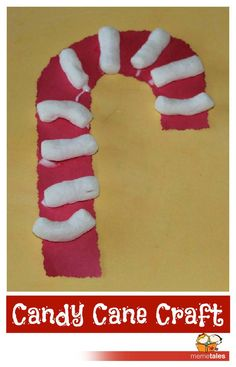 Easy Candy Cane Craft.....when I saw this, I thought they had used tampons!!