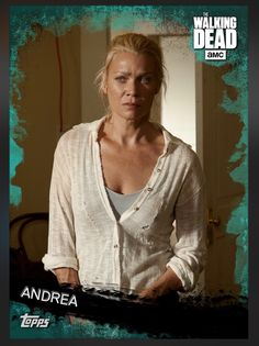 Andrea (Teal Parallel) Insert Card The Walking Dead 2016 Topps