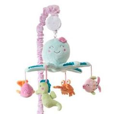 Under the Sea Whale Animals Baby Girls Nursery Crib Musical Mobile by Carters