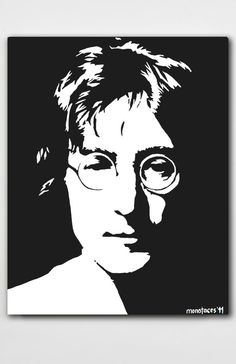 John Lennon acrylic painting on canvashand painted by MONOFACES