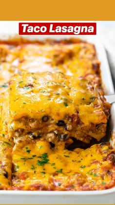 Easy Dinner Recipes, Great Recipes, Easy Meals, Favorite Recipes, Easy Recipes, Taco Lasagna, Lasagna Noodles, Mexican Lasagna, Good Food