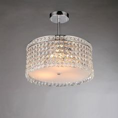 Garcia Chrome and Crystal Round 4-light Chandelier | Overstock™ Shopping - Great Deals on Warehouse of Tiffany Chandeliers & Pendants