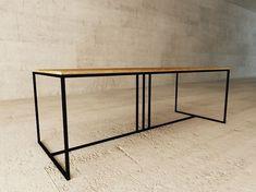 Table / Bureau en acier et bois DECO by LAGERFORM