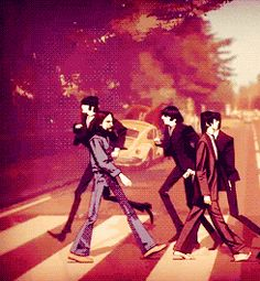 animations the beatles abbey road the beatles rock band Foto Beatles, Beatles One, Beatles Photos, John Lennon, Great Bands, Cool Bands, Rock Poster, Beatnik, The Fab Four