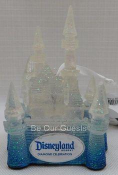 Disney Disneyland 60th Diamond Celebration Castle Light Up Ornament New
