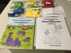LOT OF 5 PENTOMINOES, TEACHER DEMO, 4 STUDENT SETS, INSTRUCTION BOOK, MASTER COP #LearningResources