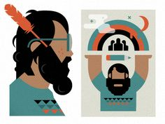 bearded man by Anthony Dimitre