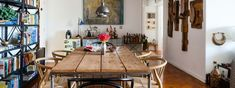 precioso salón comedor decorado en estilo bohemio, decoracion salon pequeño trucos y ideas originales