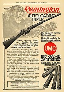 1910 advertisements | Details about 1910 Ad Remington Autoloading Rifle Cougar Game Hunting ...