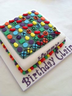 you are my candy crush - how cute! Candy Crush Party, Candy Crush Cakes, Candy Crush Saga, Party Candy, Mom Birthday, Birthday Cake, Party Themes, Party Ideas, Cake Ideas