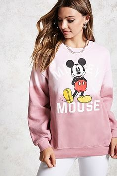 pink ombré mickey mouse sweatshirt from Forever 21 Winter Outfits, Casual Outfits, Cute Outfits, Fashion Now, Girl Fashion, Disney Outfits, Disney Clothes, Disneyland Outfits, Disneyland Trip