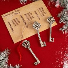 Christmas Keys... a beautiful reminder to keep Christ in the center of your holiday traditions.Thinking this will be our tradition to ensure our children know what Christmas is really about. Now to find some super awesome looking keys.