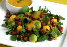 Smoky Chickpea and Watercress Salad with Mango and Avocado #vegan #recipe