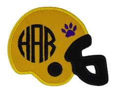 Tiger Paw Print Football Helmet Monogram Personalized Patch Name Patches, Sew On Patches, Iron On Patches, Football Fans, Football Helmets, Tiger Paw, Monogram, Sewing, Projects