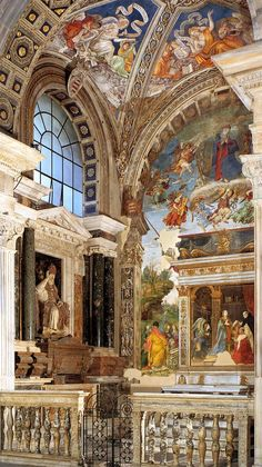 The Carafa Chapel, the church of Santa Maria sopra Minerva, Rome, Italy ~ Frescoes by Filippino Lippi