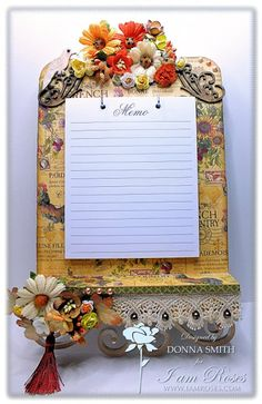 Bearly Mine Crafts: Floral Memo Board