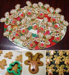 DIY Holiday Reindeer Cookies with Gingerbread Man Cookies