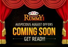 Special rummy offers & promotions to help you win big. August Month, Card Games, Promotion, Names, Link, Classic, Month Of August, Derby, Classic Books