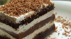 Domáci mliečny rez - To je nápad! Czech Recipes, Ethnic Recipes, Dessert Bars, Dessert Recipes, German Desserts, Oreo Cupcakes, Romanian Food, Sweet Recipes, Food To Make