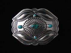 Items similar to Silver Repousse Buckle with Kingman and Sleeping Beauty Turquoise . Made to Order on Etsy Coral Turquoise, Turquoise Jewelry, Turquoise Bracelet, Metal Embossing, American Indian Jewelry, Sleeping Beauty Turquoise, Diamond Shapes, Metal Jewelry, Precious Metals