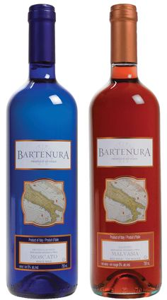 My favorite bottle of wine is the blue one, I didn't know there was a red bottle! #kosher Wine