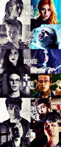 I love the Mortal Instruments and Shadowhunters!