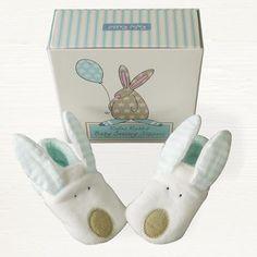 Rufus Rabbit Baby Slippers Boy | My Newborn Gifts