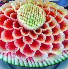 Meeru melon Fruit Art, Gourds, Maldives, Watermelon, Carving, Food, The Maldives, Pumpkins, Wood Carvings