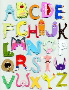 Super Cool Spy Club's hilarious paper cut monster alphabet dudes are like, super cool. See more of his work via the Super Cool Spy Club Flickr stream, or Jared Andrew Schorr's website.