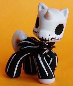 My Little Pony Jack Skellington OOAK Custom Figure MLP Ponyville Nightmare Befor #Hasbro