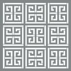 DecoArt Americana Decor 6 in. x 6 in. Greek Key Stencil-ADS555-B - The Home Depot