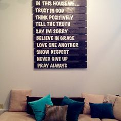 Our New Wood Pallet Wall Decor! LOVE!!!