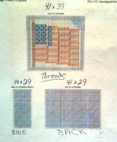 Patriotic coasters pattern plastic canvas 3--3