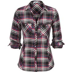 plaid flannel shirt ($29) ❤ liked on Polyvore featuring tops, shirts, 10. tops., flannel, shirt top, plaid top, flannel top, plaid shirts and tartan shirts