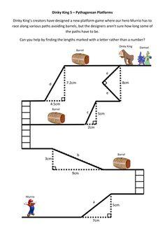 Dinky King - Pythagoras / trigonometry unit - game-based Pythagorean theorem worksheet