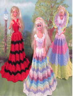 Crochet de robes de mode poupée Barbie par JudysDollPatterns