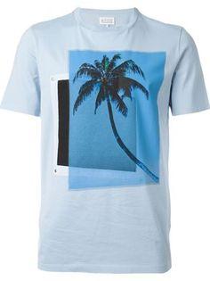 Maison Margiela camiseta con estampado de palmera