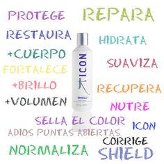 Podemos decir todo esto...o simplemente llamarlo por su nombre: #SHIELD, y dale a tu #cabello TODO lo que necesita ;) http://tutemimas.com/icon-regimedies/320-icon-shield-tratamiento-de-proteinas-.html#.Va-nl_ntlBc