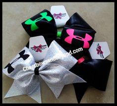 Armour cheer bow,armour dance bow,nike pro,nike,heer bow,tick tock mystic star bow,dance bow,ha