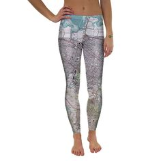 """The """"all over"""" Leggings are made using a special sublimation technique to provide a vivid graphic image throughout the pants. • 82% Polyester 18% Ly • All Over Photographic Print • Made in USA"""